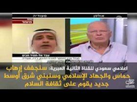 اعلامي سعودي يحرض عبر قناة إسرائيلية على المقاومة الفلسطينية
