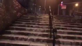 أمطار غزيرة في القدس المحتلة- مشاهد من باب العامود